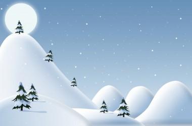 Christmas snowy image