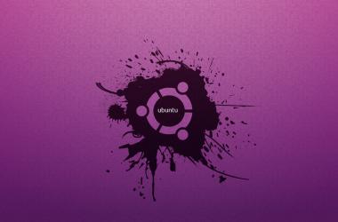 Purple Ubuntu Wallpaper