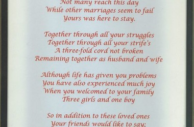 Anniversary Poem Hd 2156
