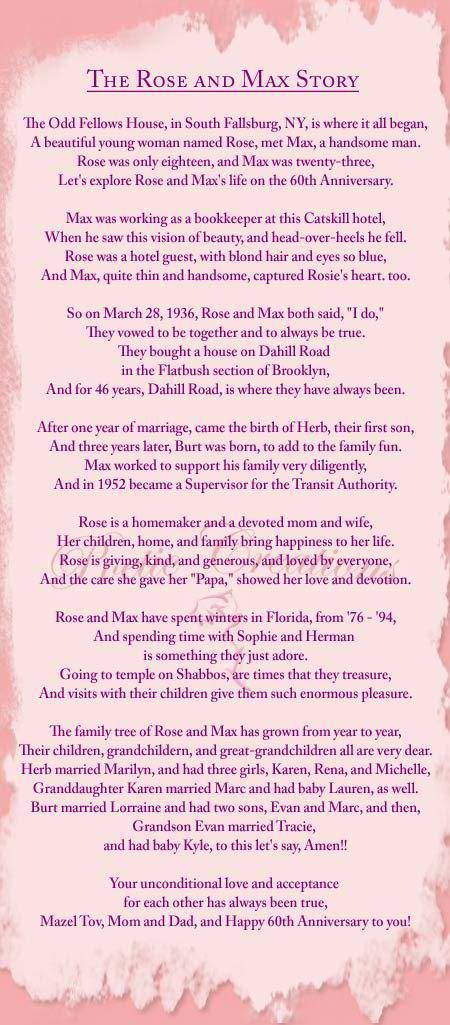 Nice Anniversary Poem