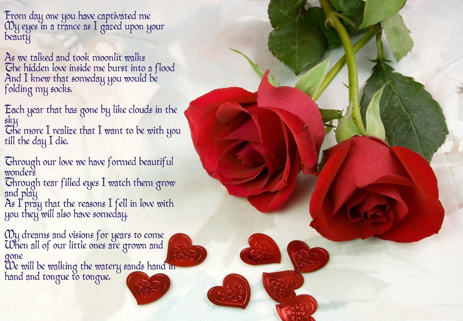 Rose Anniversary Poem