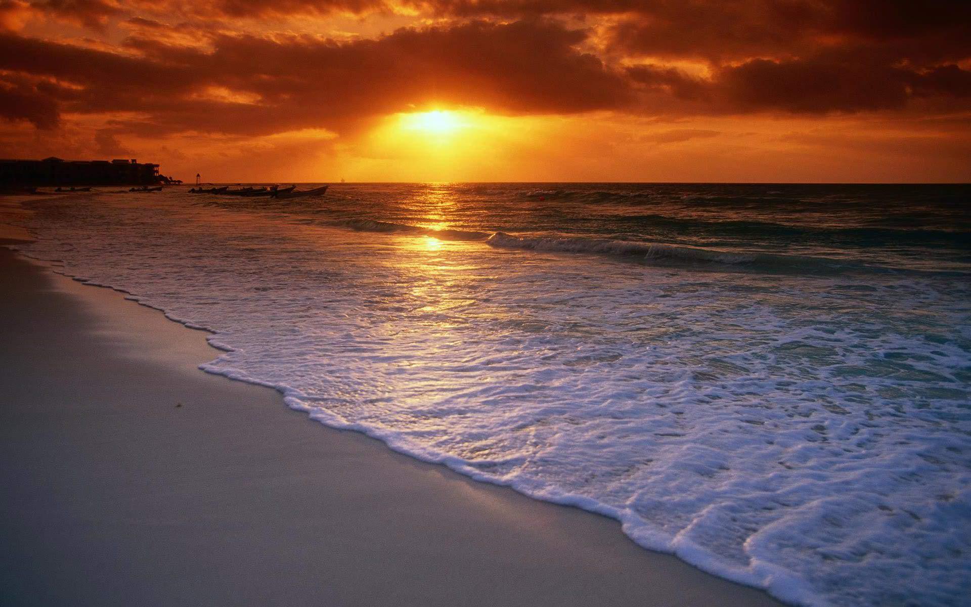 Widescreen Sunset Scene