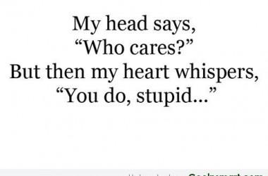 My Head Says Breakup Quotes 4591