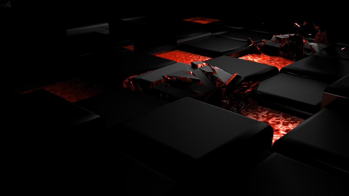 Cube Fire Laptop Wallpaper