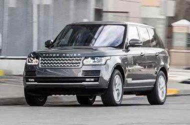 Grey Range Rover