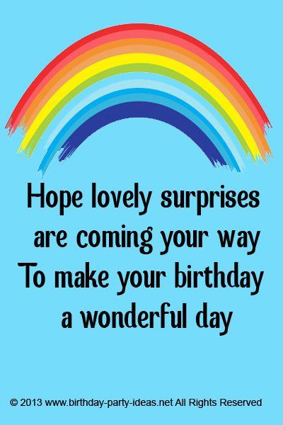 Wonderful Day Birthday Sayings