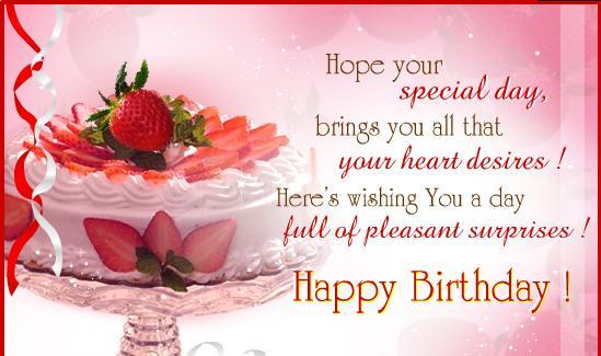 Happy Birthday Sayings Cake Image