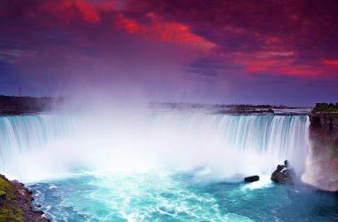 Colorful Clouds Niagara Falls 9386