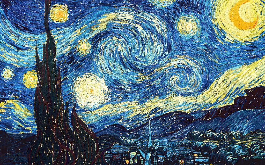 Starry Night Artistic Image