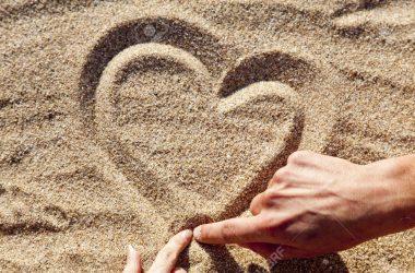 Beautiful Heart on Sand