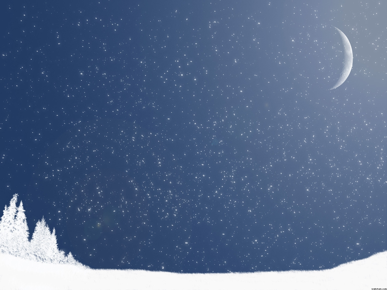 Moon Christmas Night