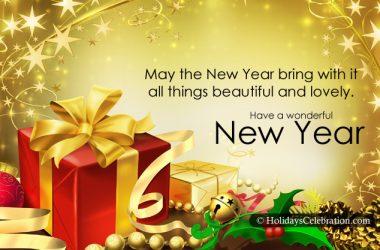 Wonderful New Year Greeting Card 10632