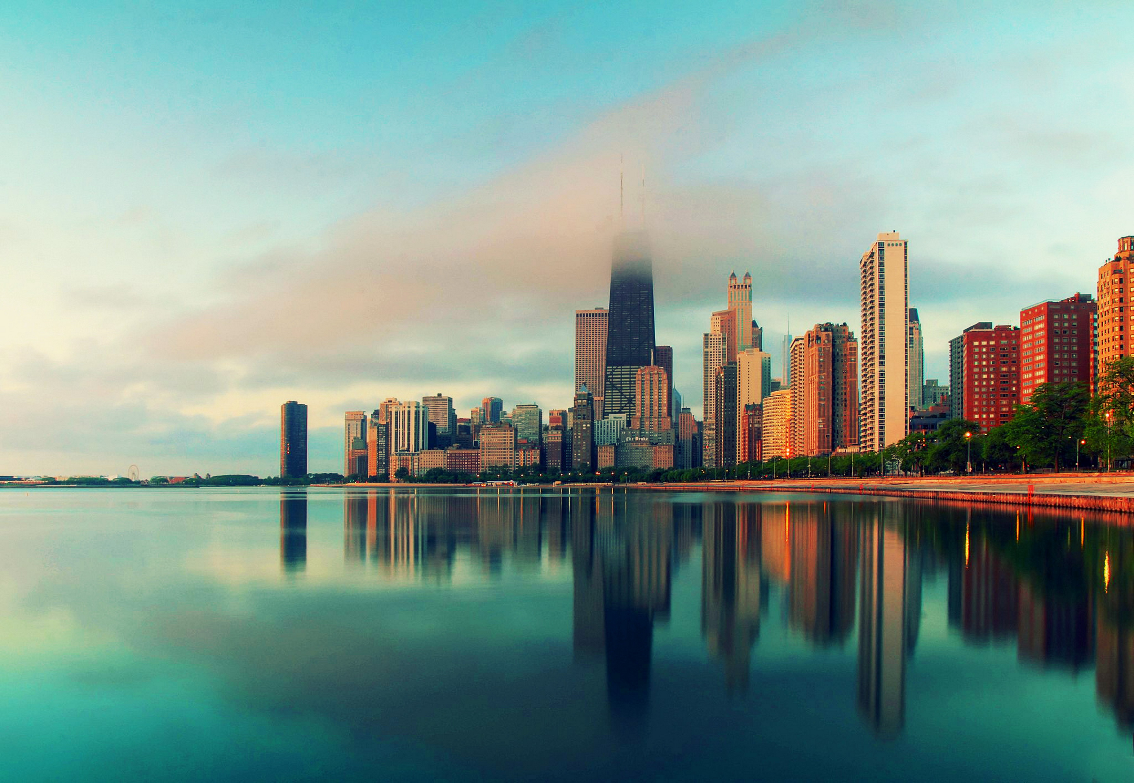 Colorful Sky Chicago Wallpaper