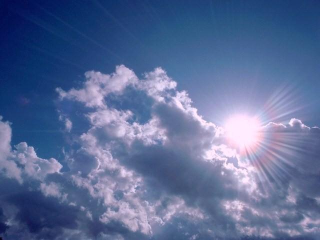 Blue Sun in the Clouds