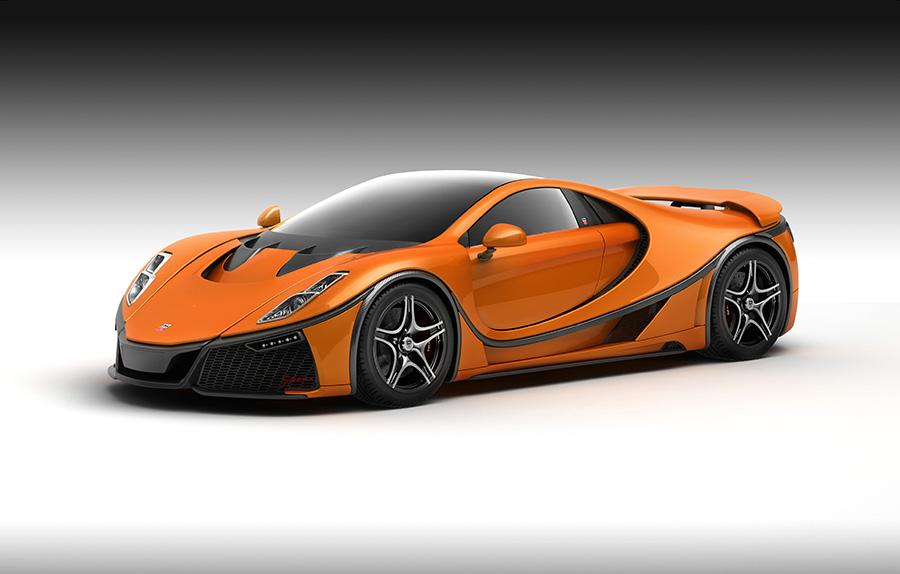 Orange GTA Spano
