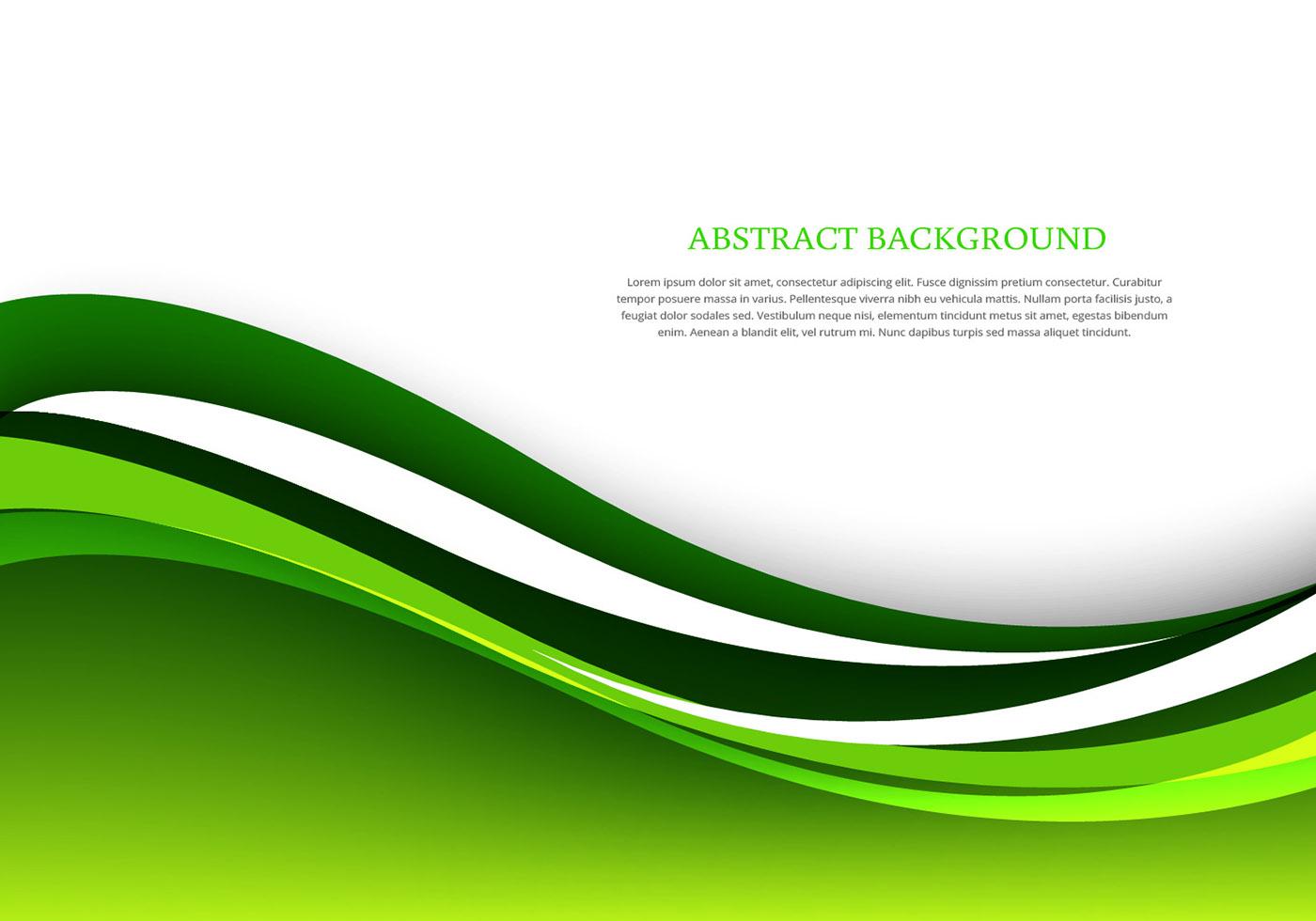 Vector Green Abstract
