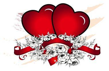 3D Hearts Love