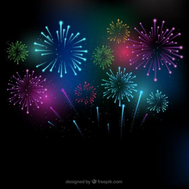 3d Fireworks Background