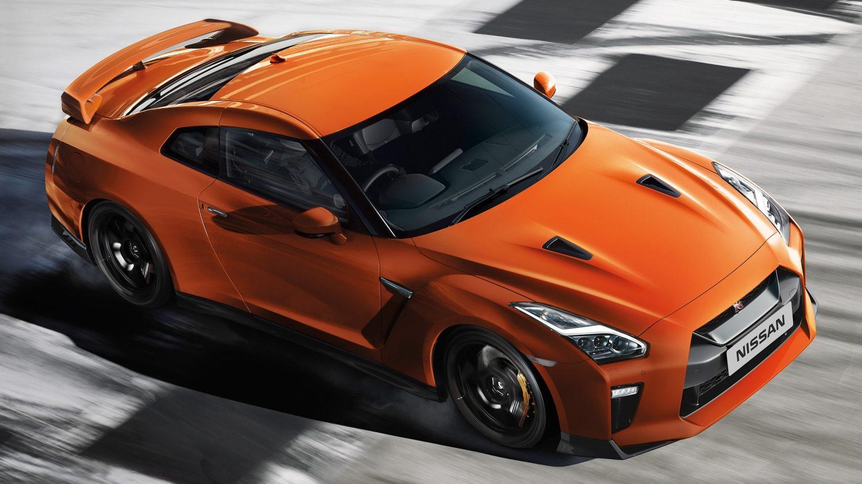 Orange Nissan Gtr
