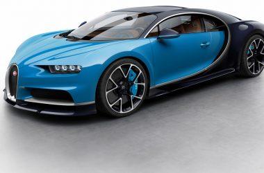 Blue Car Bugatti Chiron 15348