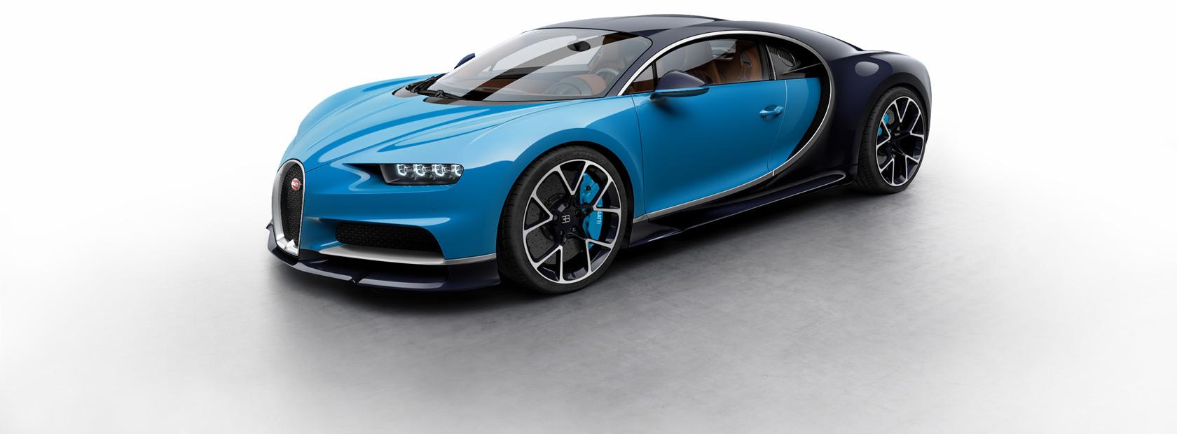 Blue Car Bugatti Chiron
