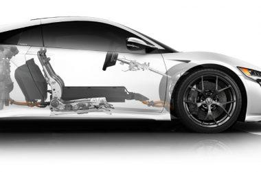White Acura NSX