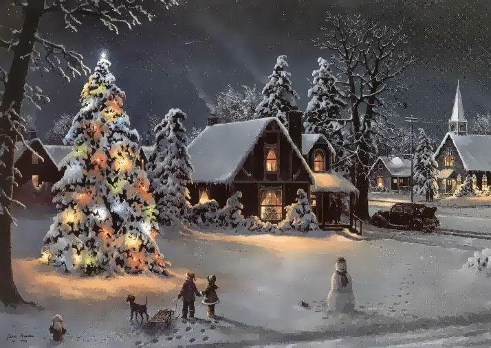 Christmas Scene.Christmas Scene Photo Fantastic Christmas Scene 16862