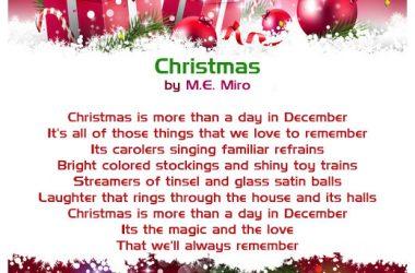 Nice Christmas Poem
