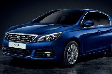 Blue Peugeot 308