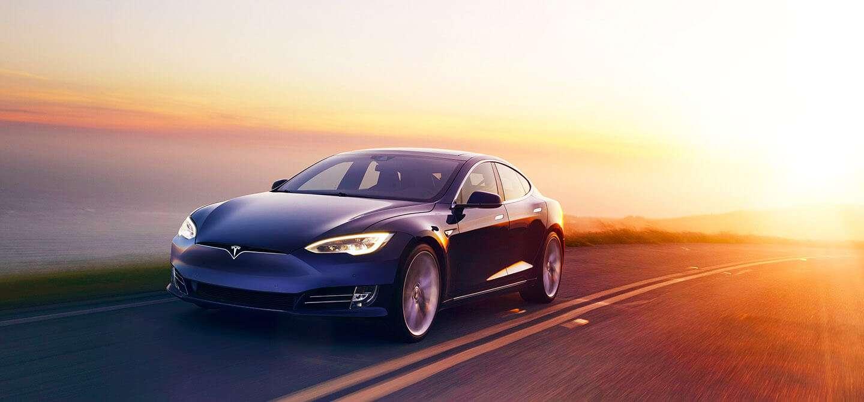 Blue Tesla S