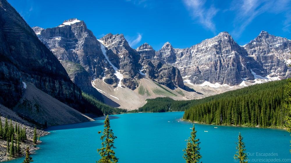 Moraine lake background