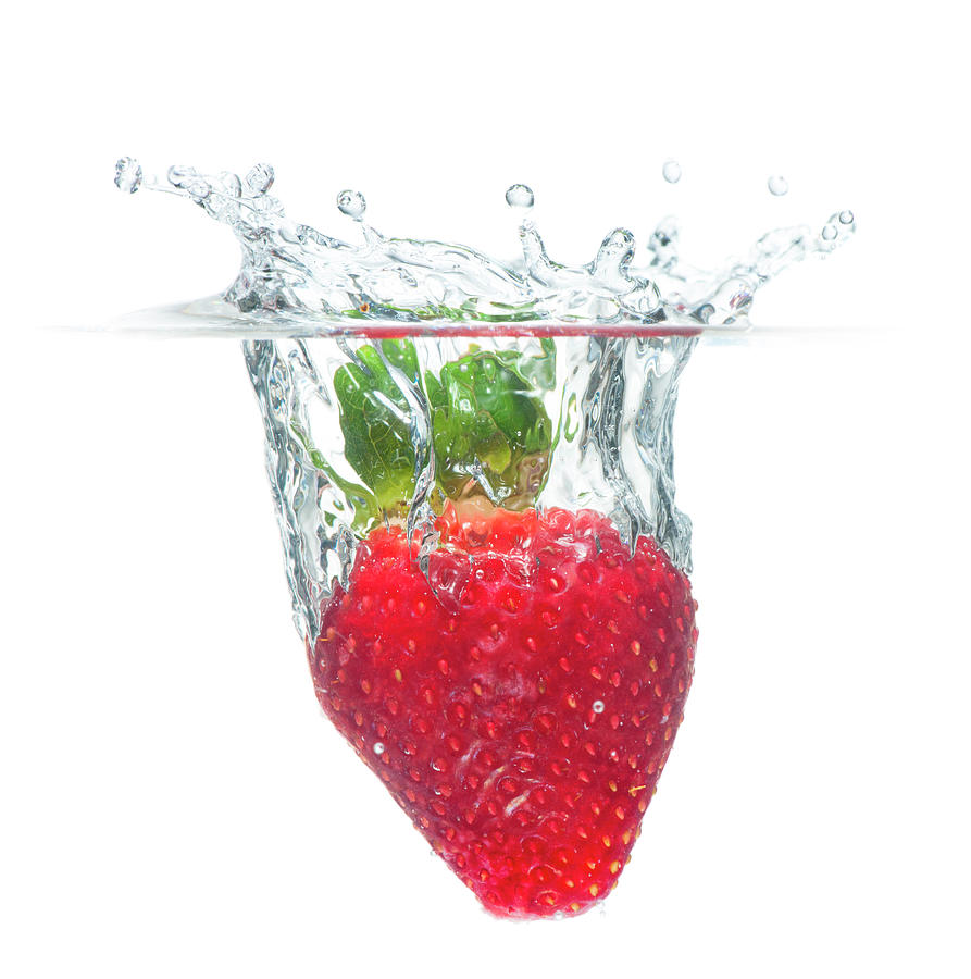 Beautiful Strawberry Splash