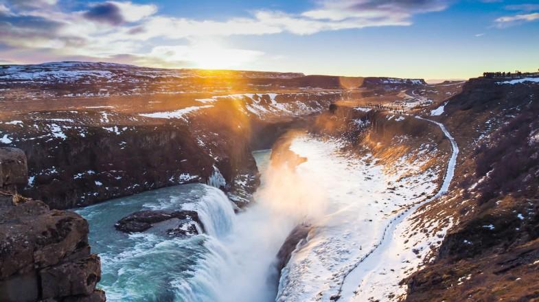 Free Gullfoss Waterfall