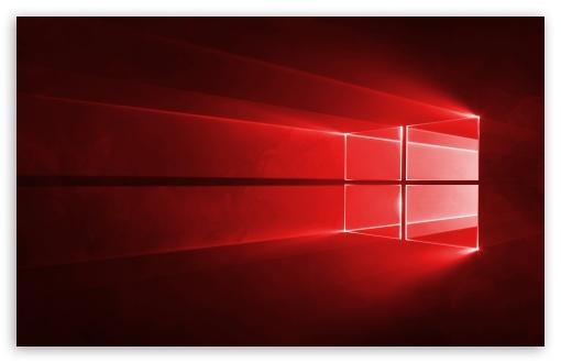Red Windows 10 Wallpaper