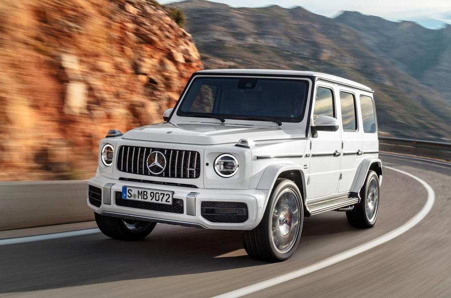 White Mercedes G63