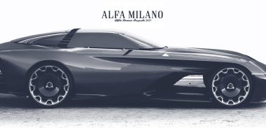 Black Alfa Milano 2077