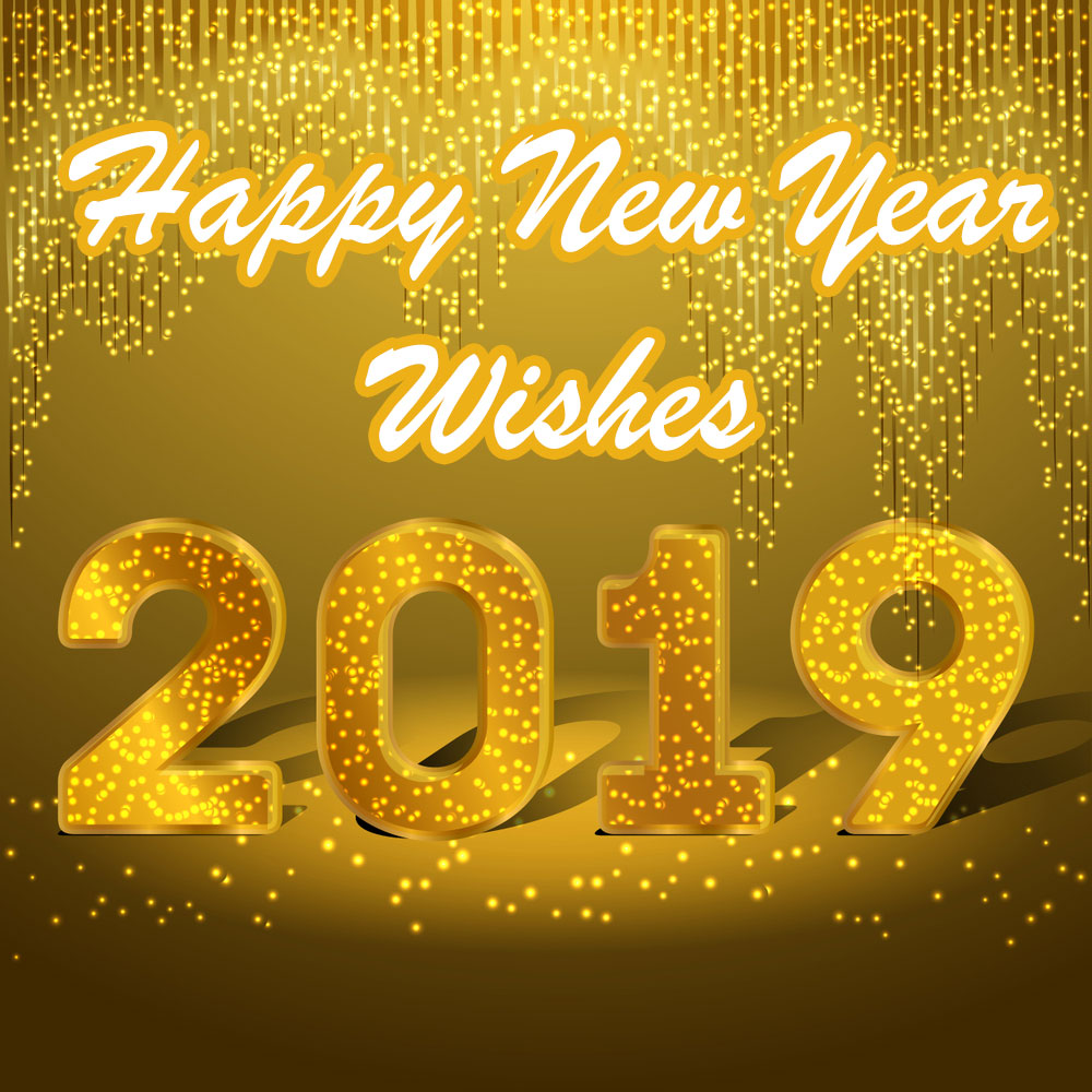 Yellow art New Year 2019
