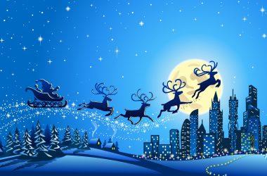 Art Santa Claus Chariot