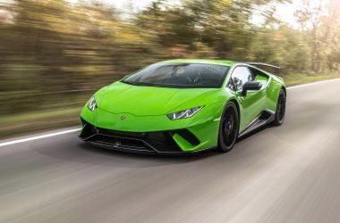 Green Lamborghini Huracan