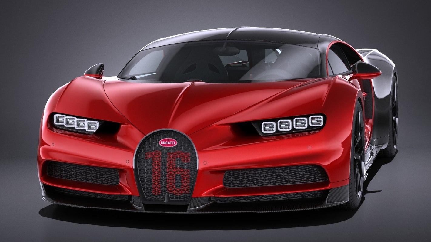 Red Bugatti Chiron