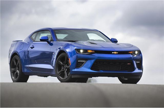 Blue Chevrolet Camaro 2SS