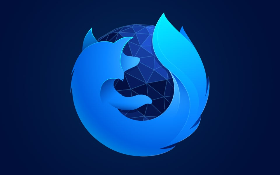 Free Firefox Blue Wallpaper