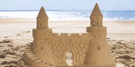 Natural Sand Castle