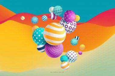Balls Abstract 4K 27557