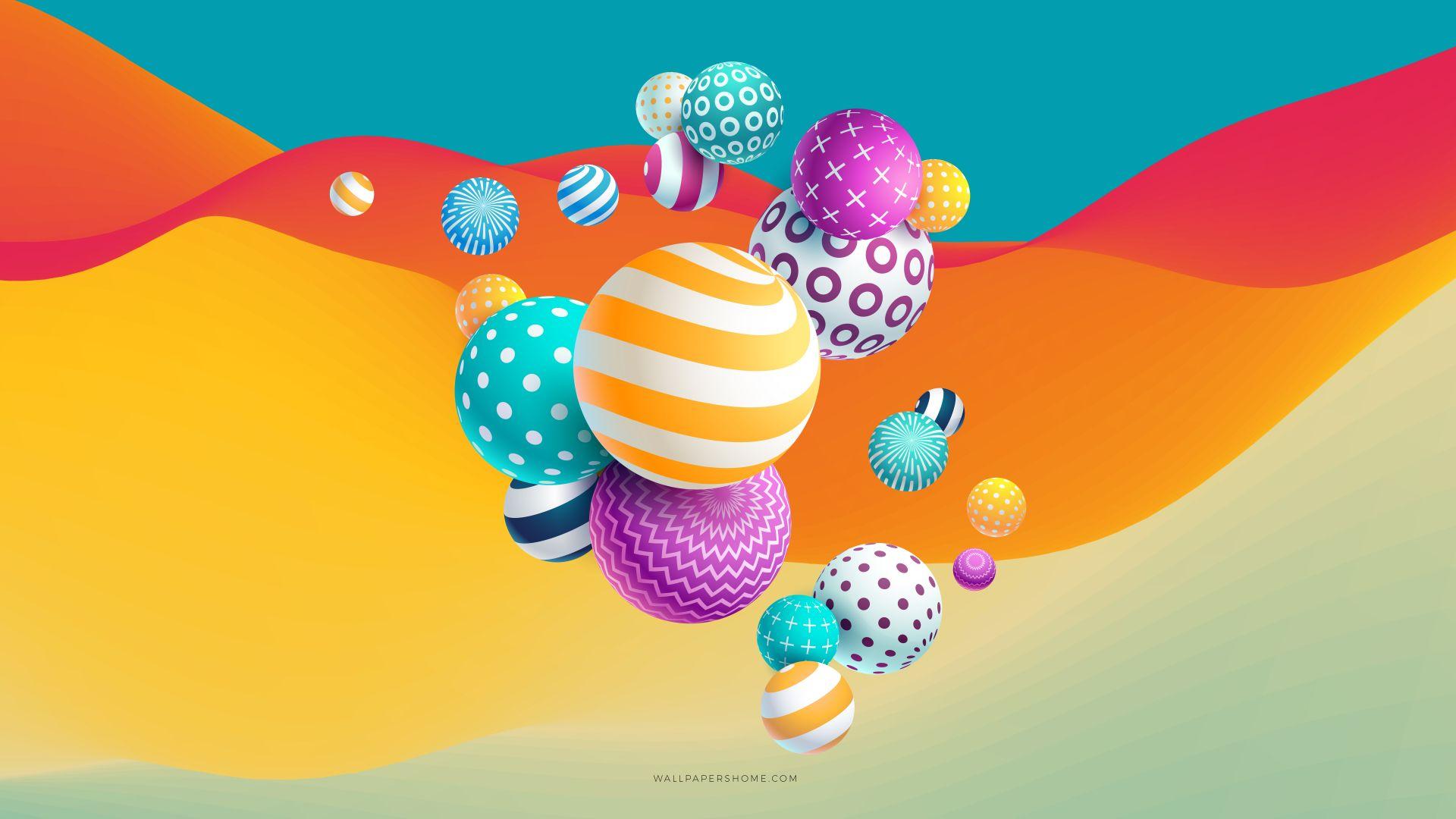 Balls Abstract 4K