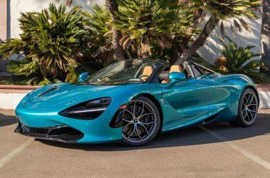 Blue McLaren 720S Spider
