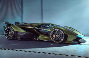 Green HD Lamborghini Lambo V12