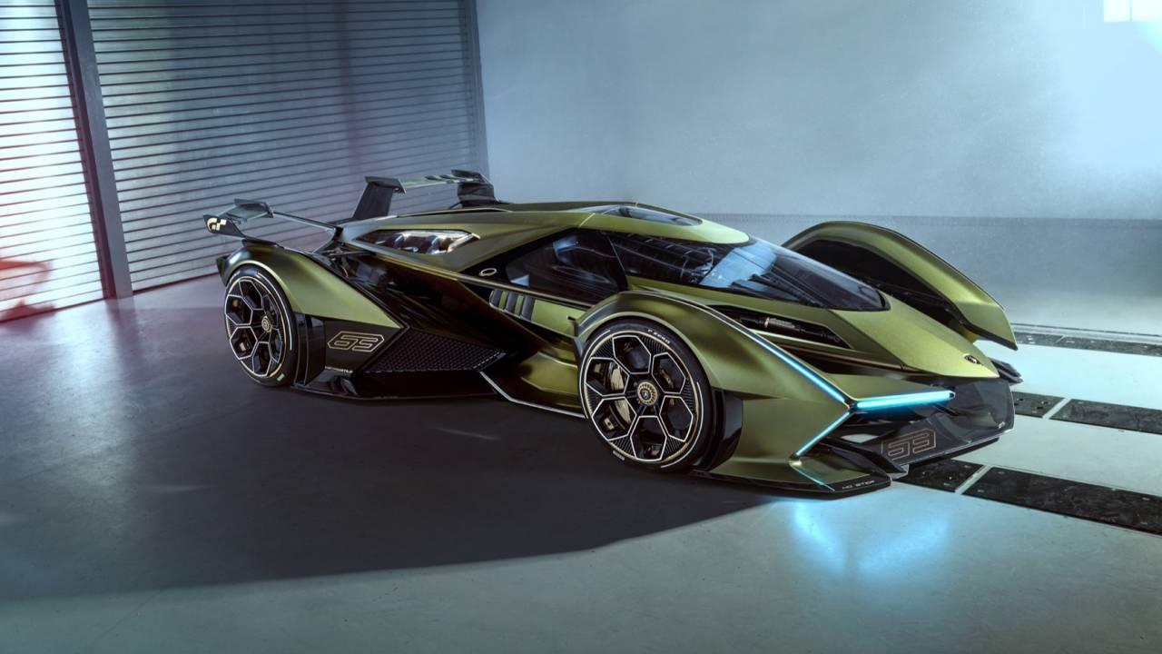 Green Lamborghini Lambo V12