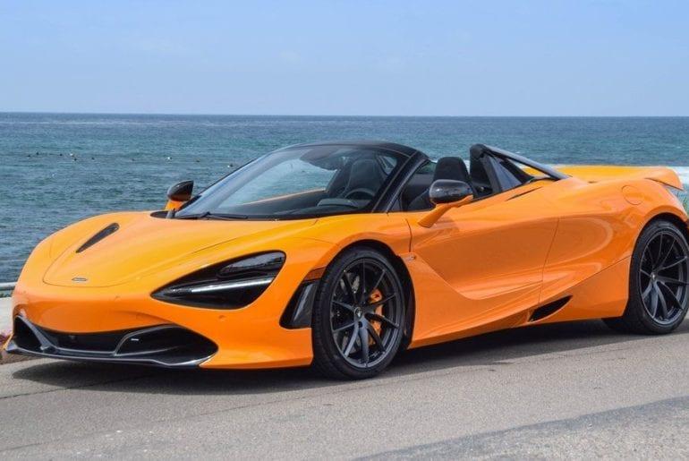 Orange McLaren 720S Spider