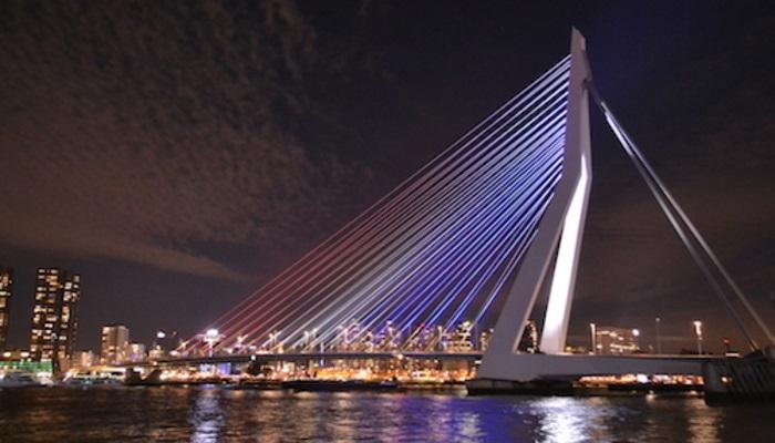 Lightning Erasmus Bridge